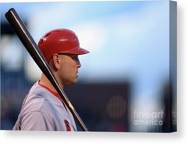 St. Louis Cardinals Canvas Print featuring the photograph Matt Holliday by Doug Pensinger