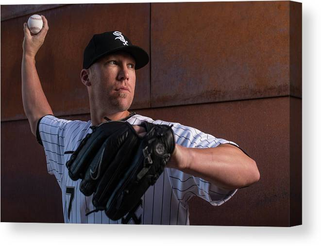 Media Day Canvas Print featuring the photograph Matt White by Rob Tringali