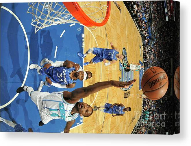 Nba Pro Basketball Canvas Print featuring the photograph Michael Kidd-gilchrist by Fernando Medina