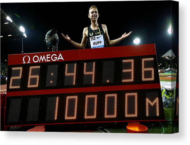 Galen Rupp Canvas Print featuring the photograph Nike Prefontaine Classic-Day1 by Jonathan Ferrey