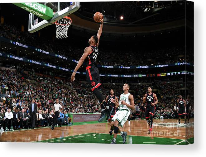 Nba Pro Basketball Canvas Print featuring the photograph Norman Powell by Brian Babineau