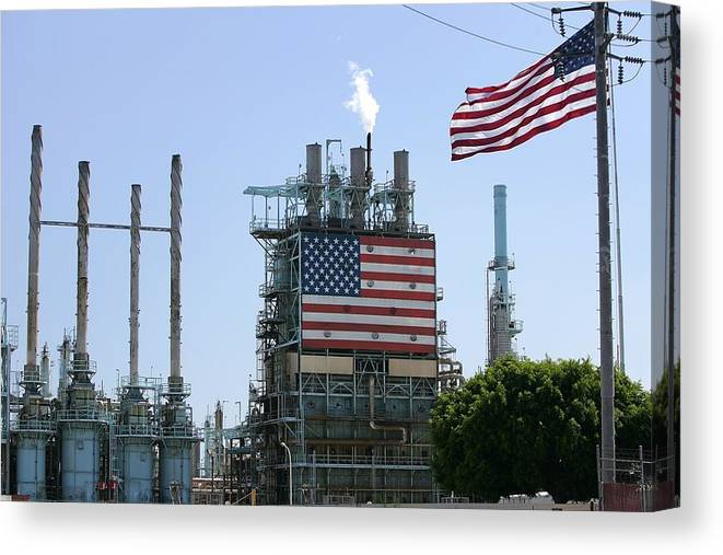 Refinery Canvas Print featuring the photograph Oil Prices Rise As BP Shuts Pipeline by David McNew