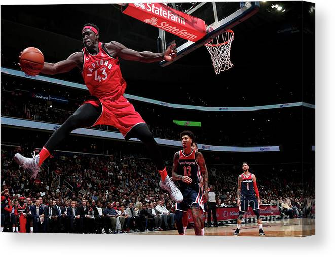 Nba Pro Basketball Canvas Print featuring the photograph Pascal Siakam by Ned Dishman