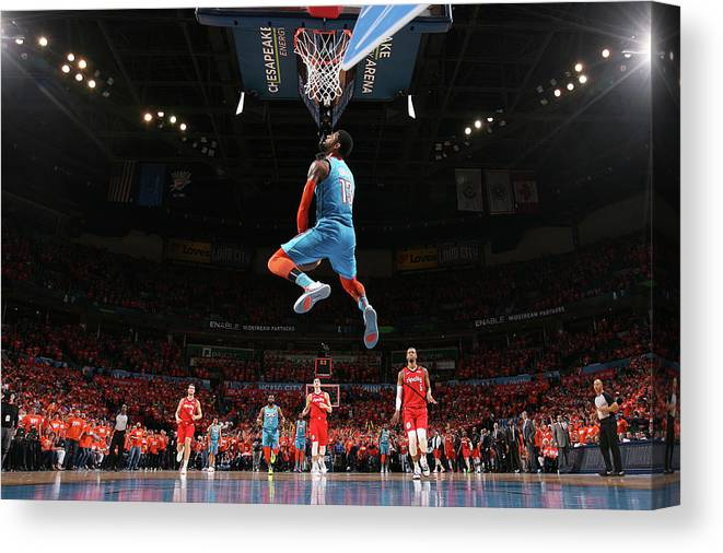 Playoffs Canvas Print featuring the photograph Paul George by Joe Murphy