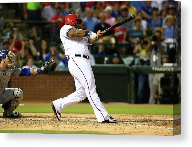 People Canvas Print featuring the photograph Prince Fielder by Sarah Crabill