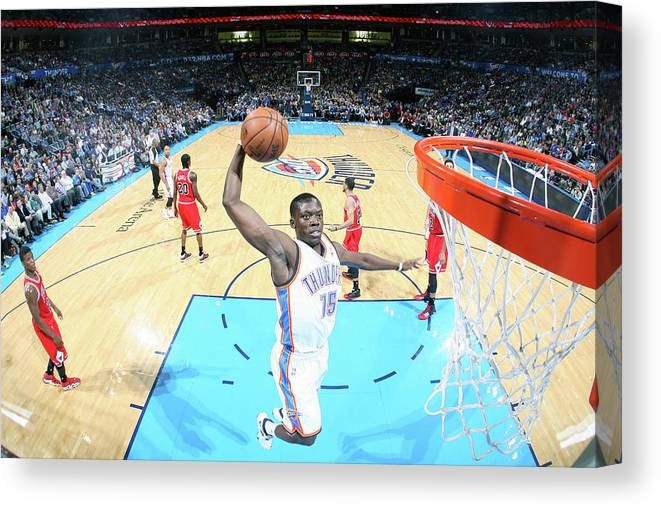 Nba Pro Basketball Canvas Print featuring the photograph Reggie Jackson by Layne Murdoch Jr.