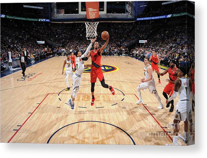 Playoffs Canvas Print featuring the photograph Rodney Hood by Bart Young