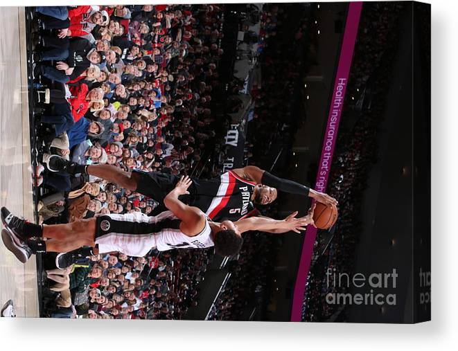 Nba Pro Basketball Canvas Print featuring the photograph Rodney Hood by Sam Forencich