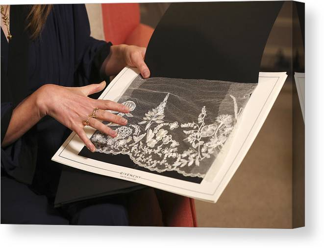 People Canvas Print featuring the photograph Royal Wedding Dress Designer And Hairdresser Give Interviews by WPA Pool