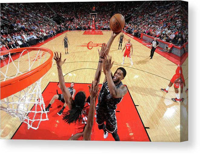 Nba Pro Basketball Canvas Print featuring the photograph Rudy Gay by Bill Baptist