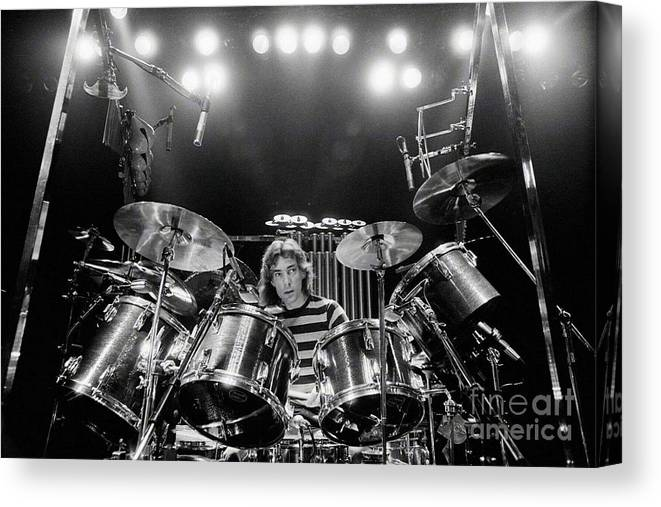 Rush Canvas Print featuring the digital art Rush Neil Peart Poster by Trindira A
