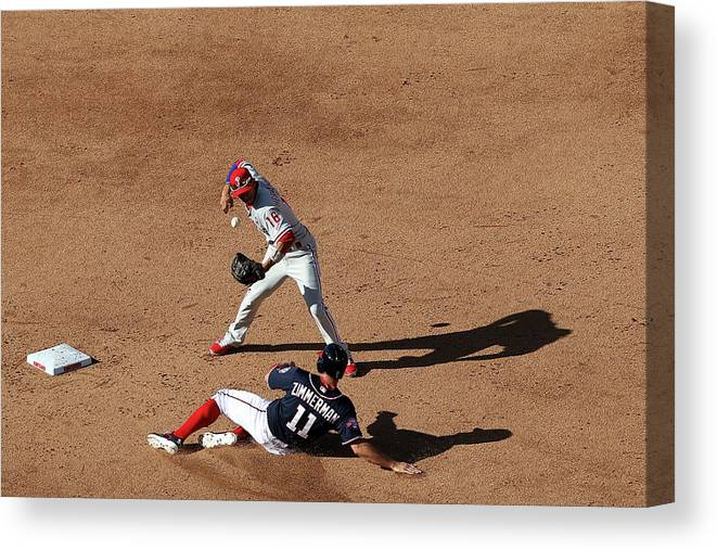 People Canvas Print featuring the photograph Ryan Zimmerman by Patrick Smith