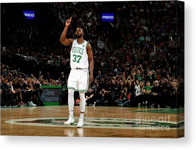 Nba Pro Basketball Canvas Print featuring the photograph Semi Ojeleye by Brian Babineau