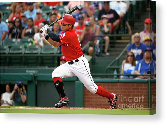 People Canvas Print featuring the photograph Shin-soo Choo by Ron Jenkins