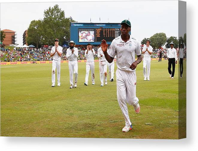 Supersport Park Canvas Print featuring the photograph South Africa v England - Fourth Test: Day Three by Julian Finney