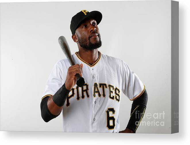 Media Day Canvas Print featuring the photograph Starling Marte by Brian Blanco