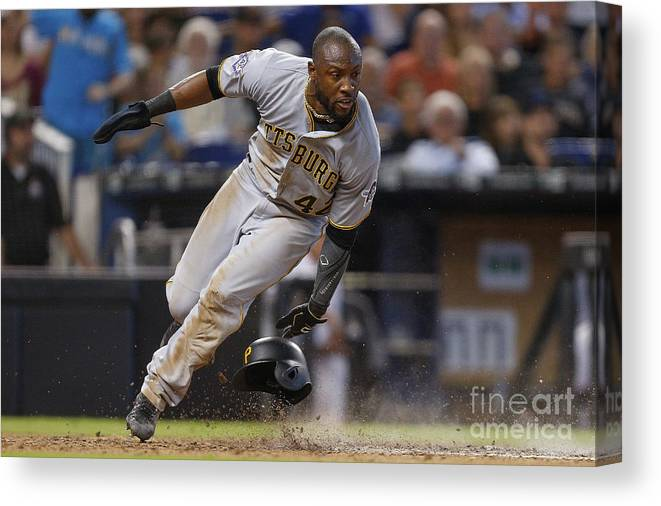 People Canvas Print featuring the photograph Starling Marte by Michael Reaves