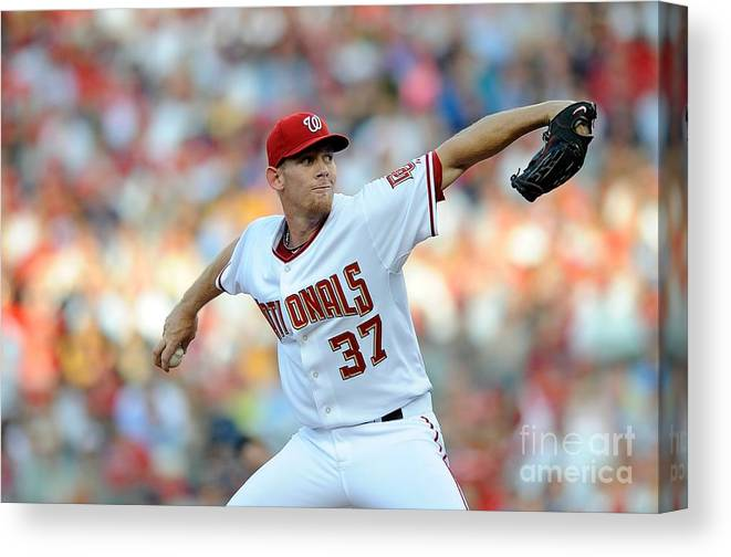 Stephen Strasburg Canvas Print featuring the photograph Stephen Strasburg by G Fiume
