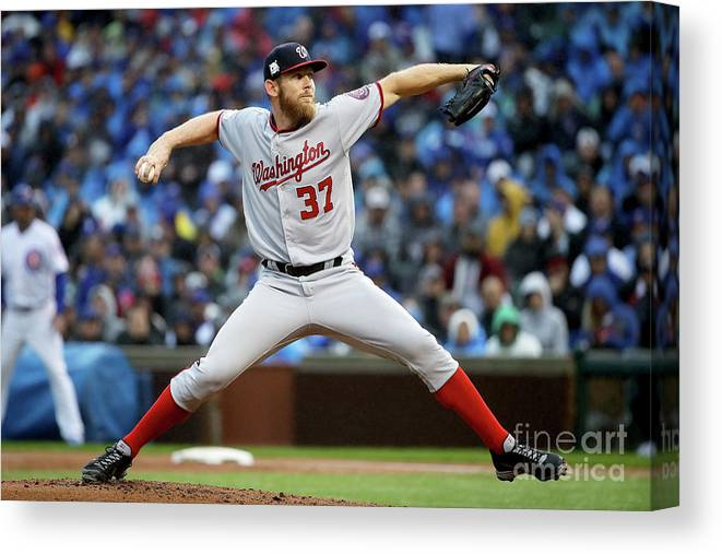 Second Inning Canvas Print featuring the photograph Stephen Strasburg by Jonathan Daniel