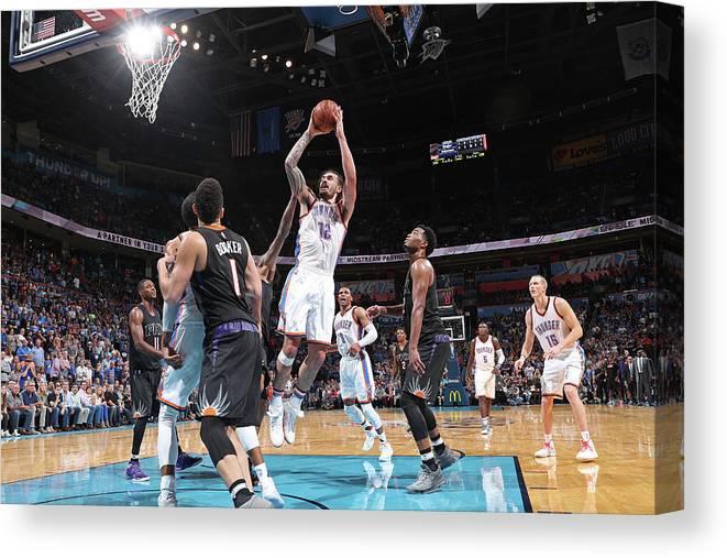 Nba Pro Basketball Canvas Print featuring the photograph Steven Adams by Joe Murphy