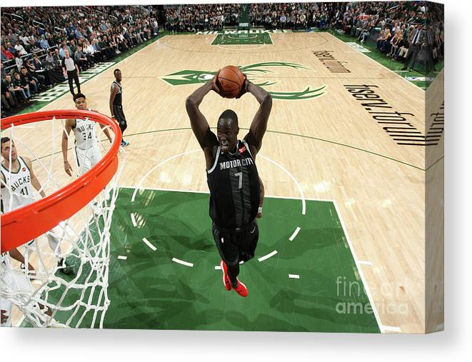 Playoffs Canvas Print featuring the photograph Thon Maker by Gary Dineen