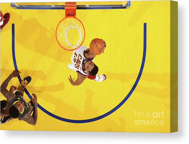 Playoffs Canvas Print featuring the photograph Tristan Thompson by Andrew D. Bernstein