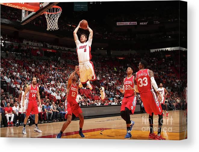 Nba Pro Basketball Canvas Print featuring the photograph Tyler Johnson by Issac Baldizon