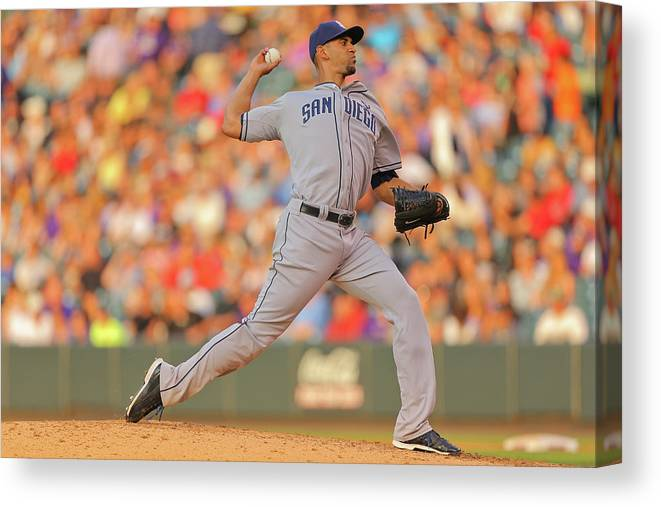 Home Base Canvas Print featuring the photograph Tyson Ross by Justin Edmonds