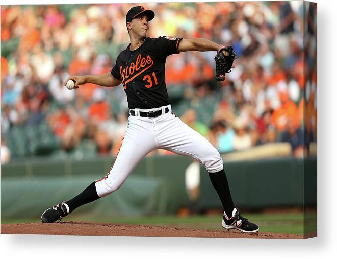 Working Canvas Print featuring the photograph Ubaldo Jimenez by Patrick Smith
