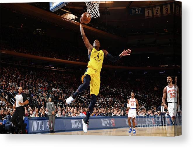 Nba Pro Basketball Canvas Print featuring the photograph Victor Oladipo by Jesse D. Garrabrant