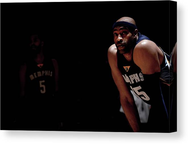 Nba Pro Basketball Canvas Print featuring the photograph Vince Carter by Bart Young