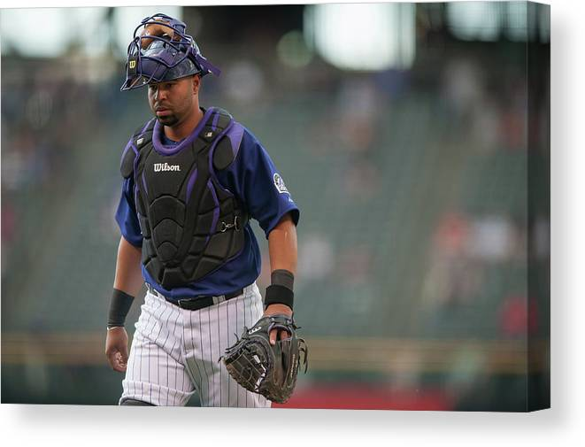 Home Base Canvas Print featuring the photograph Wilin Rosario by Dustin Bradford