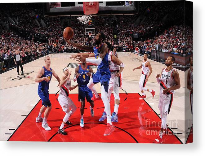 Playoffs Canvas Print featuring the photograph Will Barton by Sam Forencich