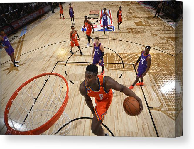 Nba Pro Basketball Canvas Print featuring the photograph Zion Williamson by Jesse D. Garrabrant