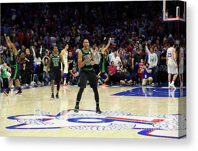 Playoffs Canvas Print featuring the photograph Al Horford by Brian Babineau