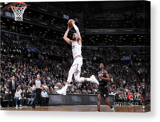 Playoffs Canvas Print featuring the photograph Ben Simmons by Nathaniel S. Butler