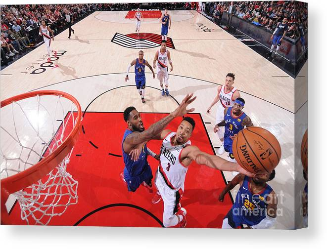 Playoffs Canvas Print featuring the photograph C.j. Mccollum by Sam Forencich