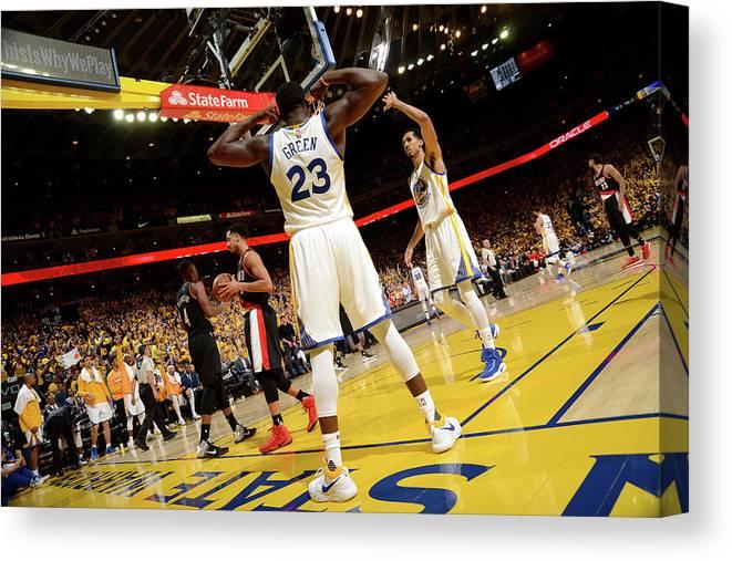 Playoffs Canvas Print featuring the photograph Draymond Green by Noah Graham