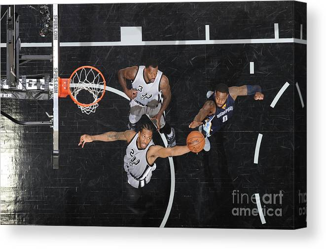 Playoffs Canvas Print featuring the photograph Kawhi Leonard by Mark Sobhani