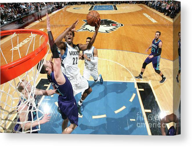 Nba Pro Basketball Canvas Print featuring the photograph Andrew Wiggins by David Sherman