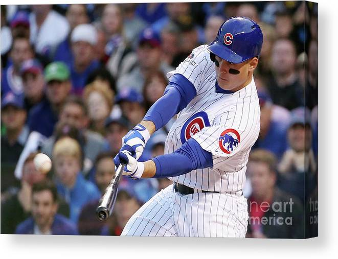 Three Quarter Length Canvas Print featuring the photograph Anthony Rizzo by Jonathan Daniel