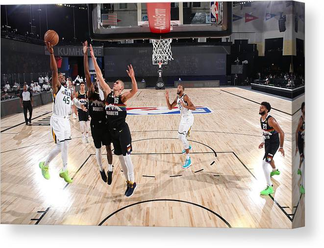 Playoffs Canvas Print featuring the photograph Donovan Mitchell by Jesse D. Garrabrant