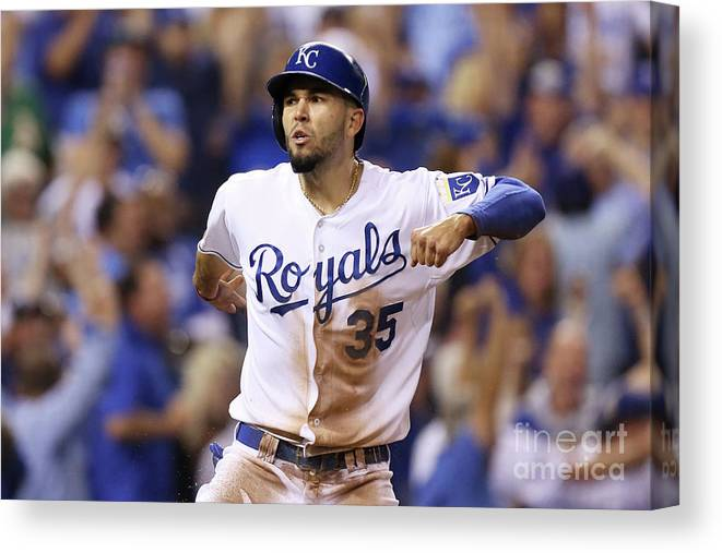 Playoffs Canvas Print featuring the photograph Eric Hosmer by Ed Zurga