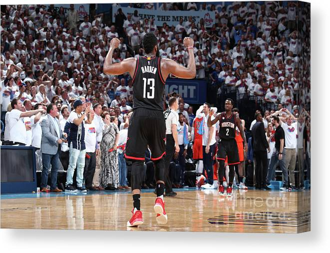 Playoffs Canvas Print featuring the photograph James Harden by Nathaniel S. Butler