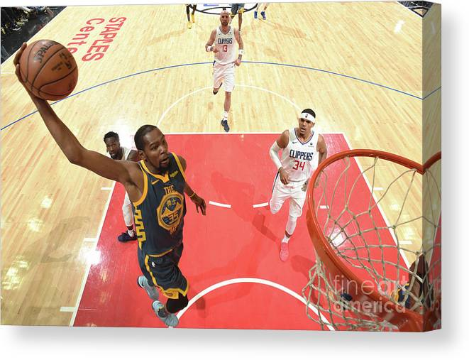 Nba Pro Basketball Canvas Print featuring the photograph Kevin Durant by Andrew D. Bernstein