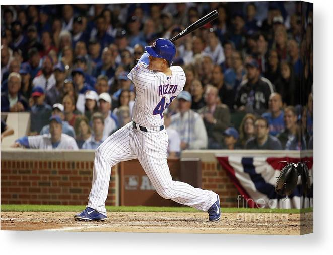 People Canvas Print featuring the photograph Anthony Rizzo by Jonathan Daniel