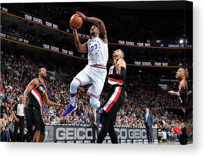 Nba Pro Basketball Canvas Print featuring the photograph Jimmy Butler by Jesse D. Garrabrant