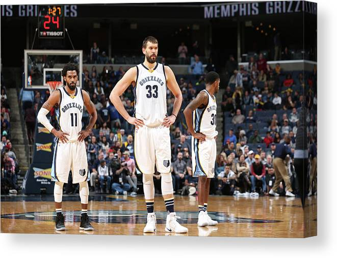 Nba Pro Basketball Canvas Print featuring the photograph Mike Conley by Joe Murphy
