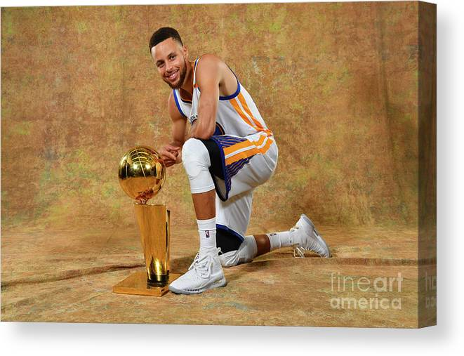 Playoffs Canvas Print featuring the photograph Stephen Curry by Jesse D. Garrabrant