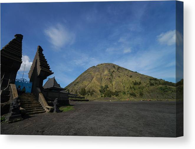 Social Issues Canvas Print featuring the photograph Bromo National Park by Shaifulzamri